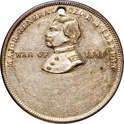 2243: General McClellan Civil War Dog Tag