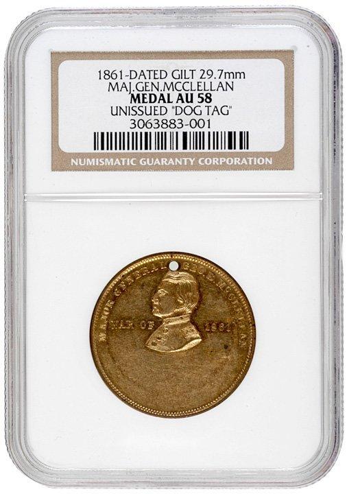 2243: General McClellan Civil War Dog Tag - 3
