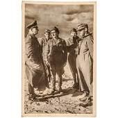 ERWIN ROMMEL Twice Signed Afrika Korps Photograph