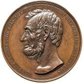 1865 French Medal Struck to Honor Abraham Lincoln