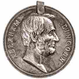 (1886) SILVER ABRAHAM LINCOLN PRESIDENTIAL MEDAL