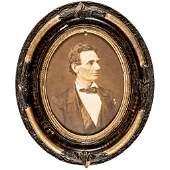 1860 Beardless Abraham Lincoln Platinum Print
