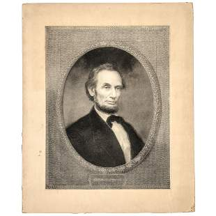 1866 + 1877 Abraham Lincoln Pair of Engravings