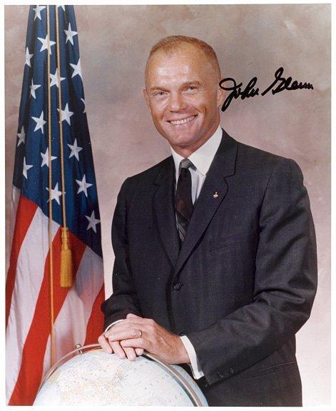 1001: ASTRONAUT: JOHN GLENN, Signed Formal Portrait
