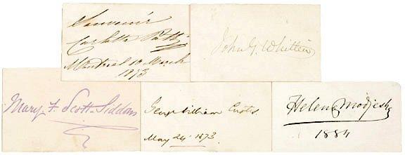 1002: AUTOGRAPH ALBUM: Five 19th Century Authors