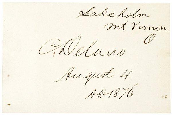 1006: COLUMBUS DELANO, Signature US Grants Secretary