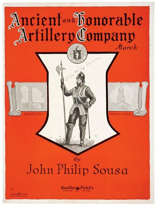 1017: JOHN PHILIP SOUSA Signed Sheet Music, c. 1924