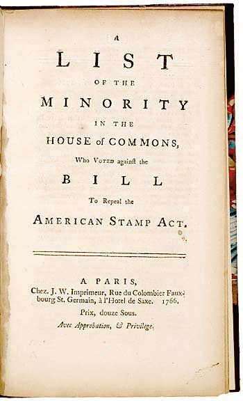 1024: Parliament Members Repeal the American Stamp Act