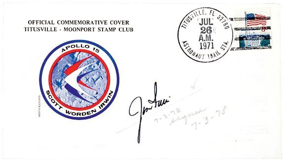 2001: ASTRONAUT JIM IRWIN Signed Cover