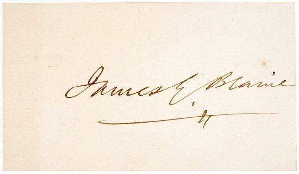 2002: JAMES G. BLAINE Signature Card