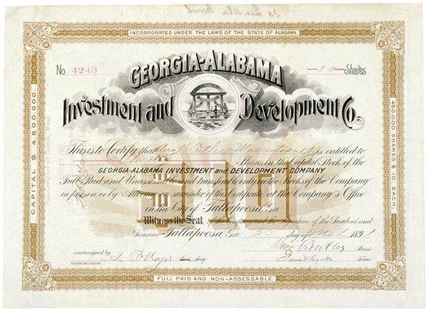 2003: BENJAMIN F. BUTLER 1891 Signed Stock Certificate