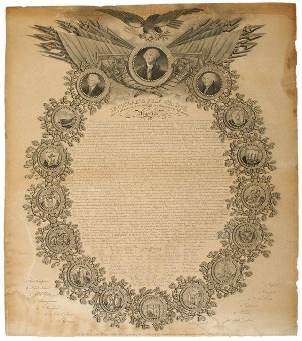 2005: Rare 1819 Printing Declaration of Independence
