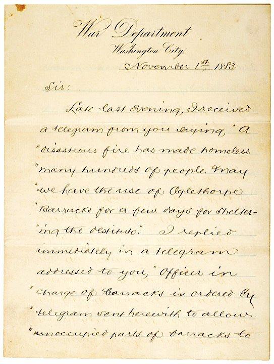 2011: ROBERT TODD LINCOLN, Manuscript Letter Signed