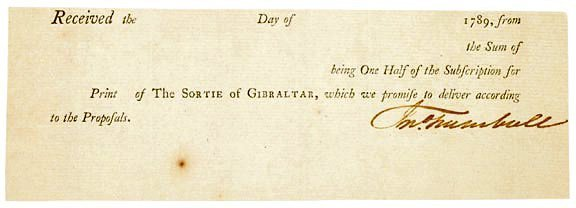 2020: JOHN TRUMBULL Signed Receipt 1789