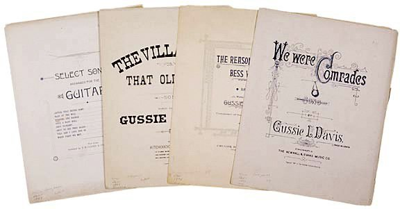 2139: African-American Composers Sheet Music, Lot of4