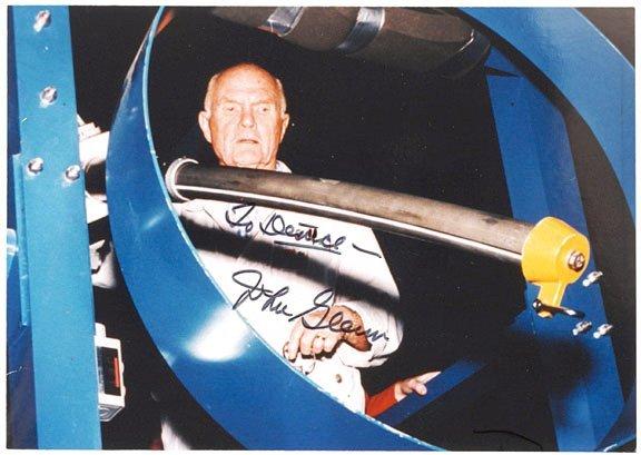 3001: Astronaut JOHN GLENN Signed Photograph