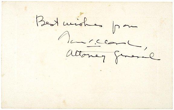 3003: THOMAS C. CLARK Signed Card
