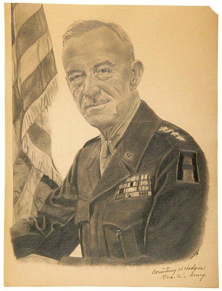 3008: COURTNEY H. HODGES, Signed Sketch