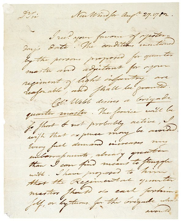 3013: TIMOTHY PICKERING, Autograph Letter Signed, 1782