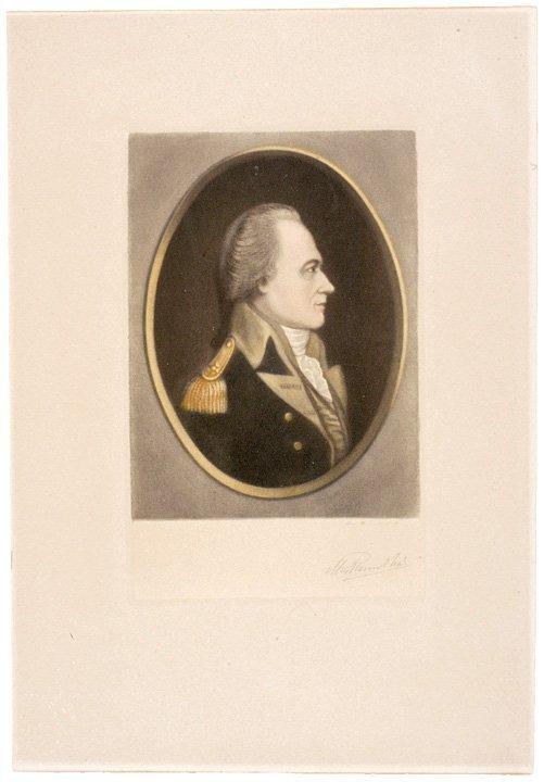 3014: Alexander Hamilton Litho, Signed MAX ROSENTHAL