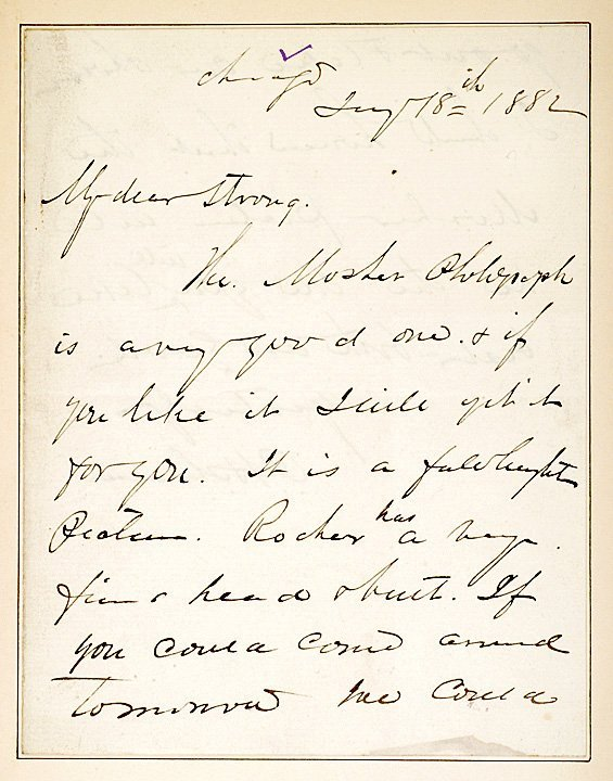 3015: PHILLIP SHERIDAN, 1882 Autograph Note Signed