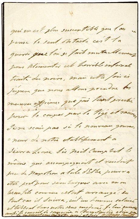 3017: SIR WILLIAM SIDNEY SMITH Anti-Slavery Letter