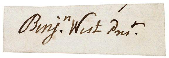 3021: British Painter BENJAMIN WEST Signature