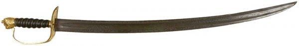 3032: c. 1770 British Lion-Headed Pommel Short Saber