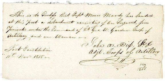 4006: JOHN ADAMS DIX, 1815 Signed Document