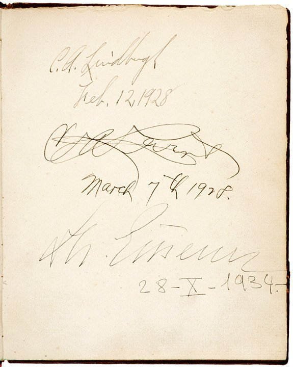 4011: 1920-40s Autograph Collection with LINDBERGH