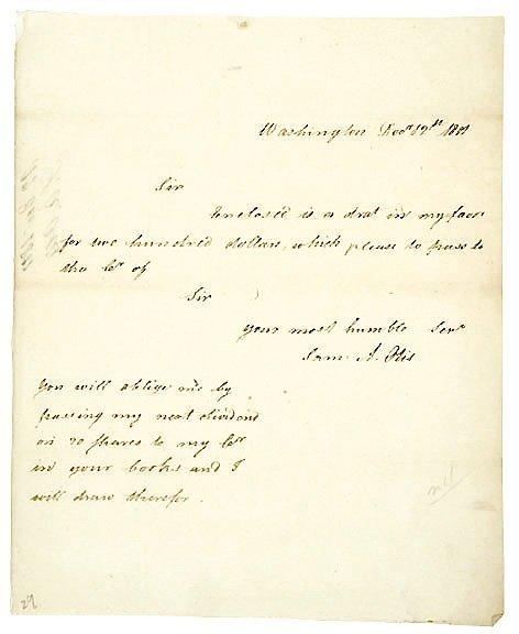 4012: SAMUEL A. OTIS Signed Letter 1801