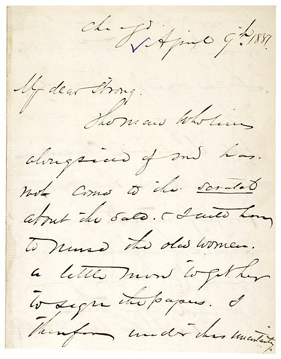 4016: Gen. PHILLIP SHERIDAN, 1881 Letter Signed