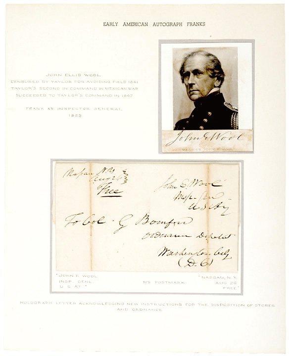 4022: Union General JOHN E. WOOL Signed Letter