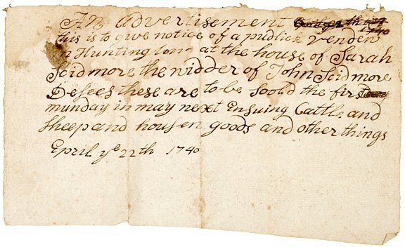 4023: 1740 Dated Colonial American Estate Documents
