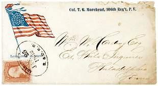4109: Civil War Regimental Cover: Circular Star Flag