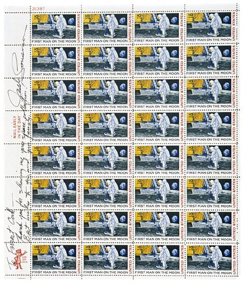 5: Astronaut JACK LOUSMA Signed Stamps