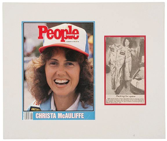 6: ASTRONAUT, CHRISTA McAULIFFE Signed Picture