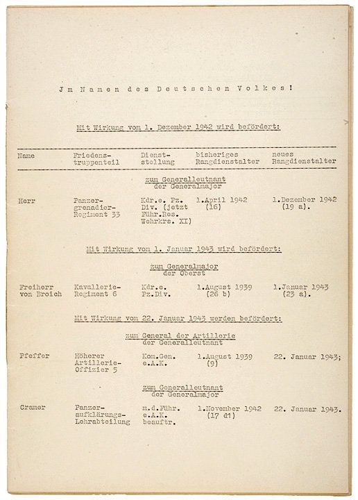 59: ADOLPH HITLER, Signed Military Document