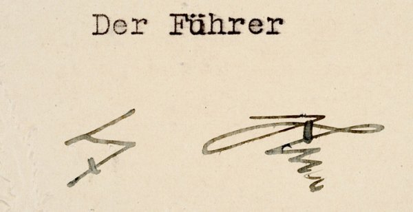 59: ADOLPH HITLER, Signed Military Document - 5