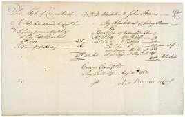 166: 1782, REVOLUTIONARY WAR ACCOUNT FOR BLANKETS