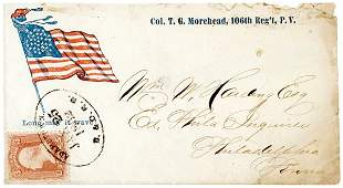 275: Civil War Regimental Cover: Circular Star Flag