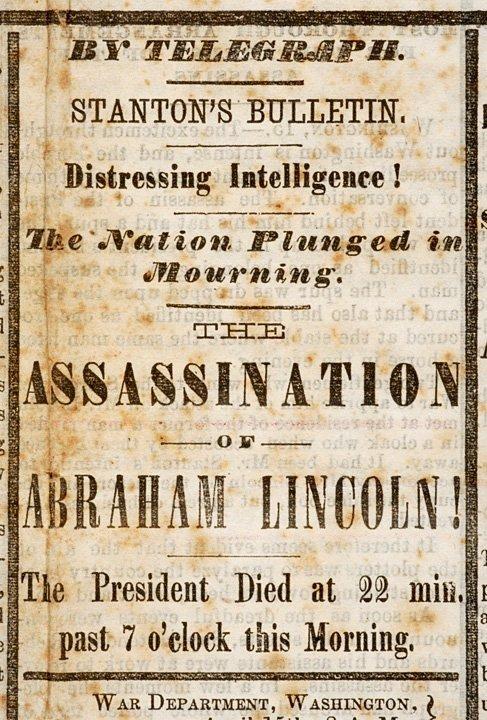 321: 1865 Lewiston, Maine Newspaper-Lincoln Death - 2