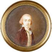 395 c 1770 Oil Portrait Painted on Ivory