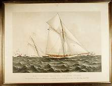 412 1886 Americas Cup Race Print by Currier  Ives