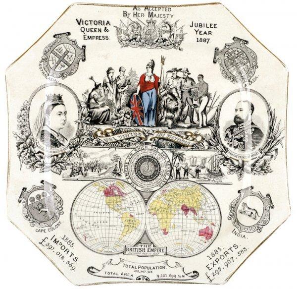 420: QUEEN VICTORIA 1887 Commemorative Jubilee Plate