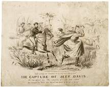 483 Lithograph 1865 The Capture of Jeff Davis
