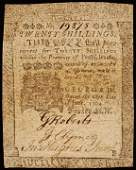 602: Colonial Currency GEORGE CLYMER -B. Franklin Note
