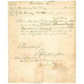 1769 GEORGE WASHINGTON's Signed Account for Posey