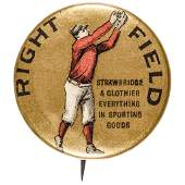 1896 Baseball Right Field Advertising Button