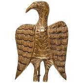 c. 1900s Hand-Carved Wood Folk Art American Eagle
